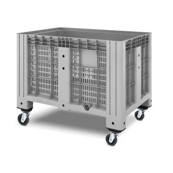 Перфорированный контейнер iBox на колесах (1200х800)