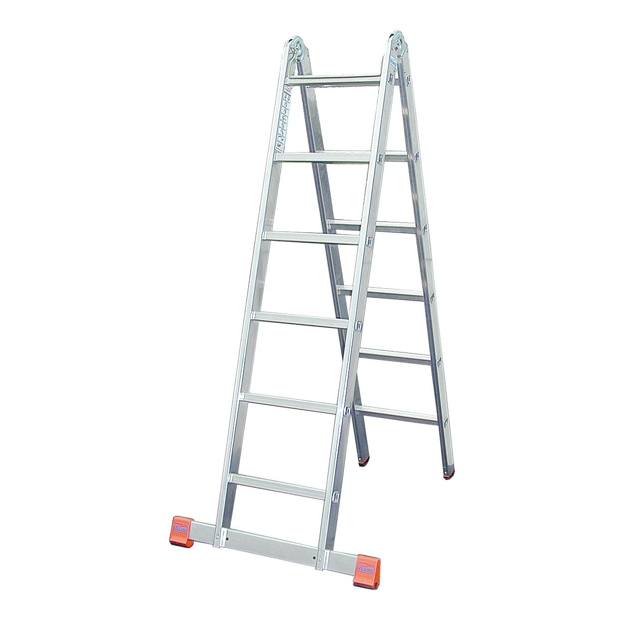 Двухсекционная шарнирная лестница TriMattic (MONTO)