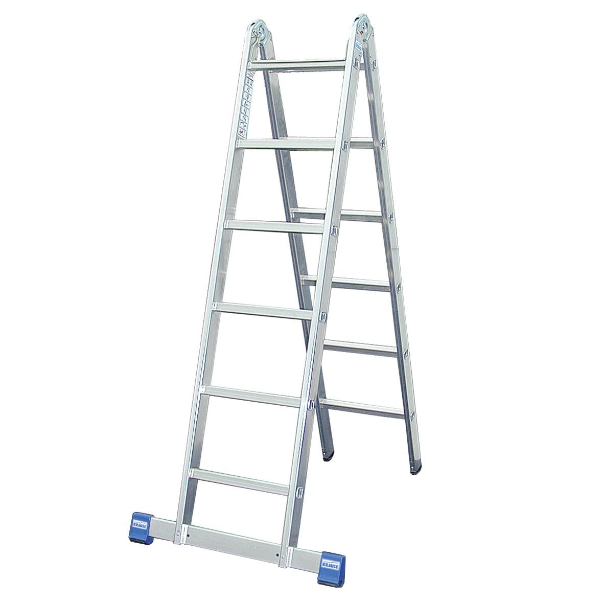 Двухсекционная шарнирная лестница (STABILO)