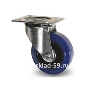 Колеса с синей эластичной резиной