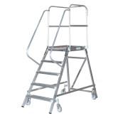 Односторонняя лестница с платформой