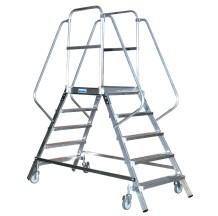 Двухсторонняя лестница с платформой